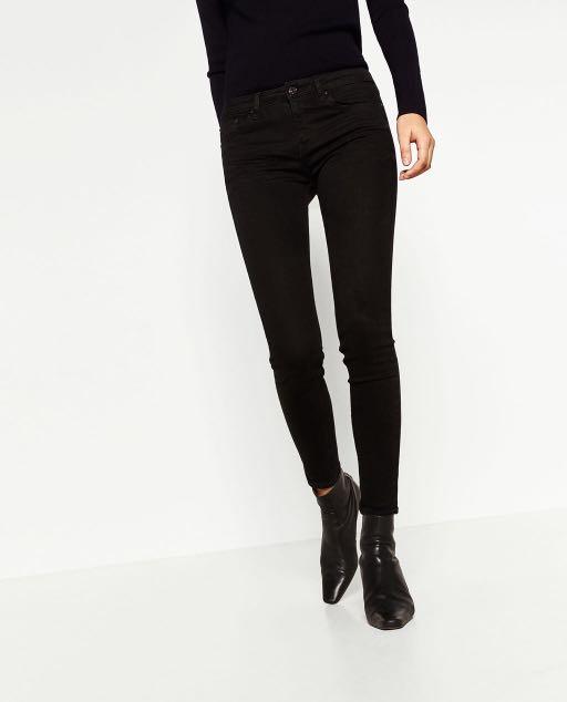 Zara basic denim black skinny jeans