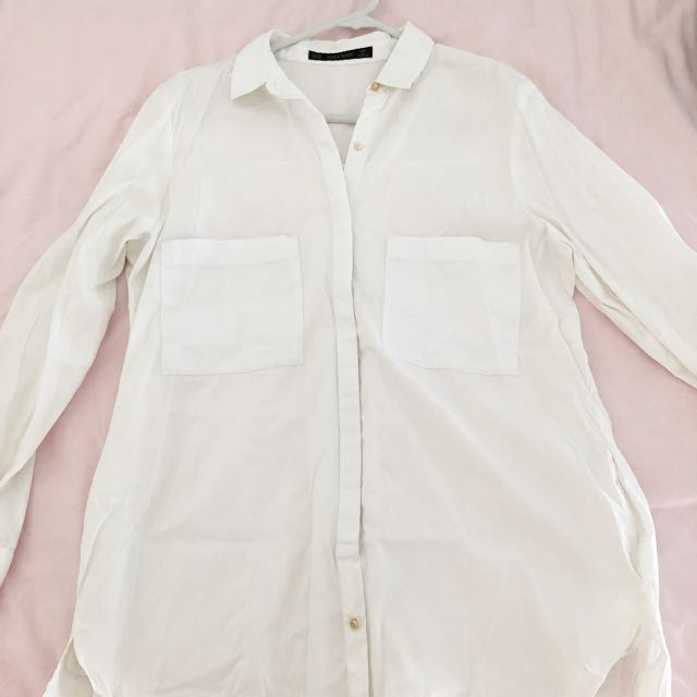 Zara white causal blouse