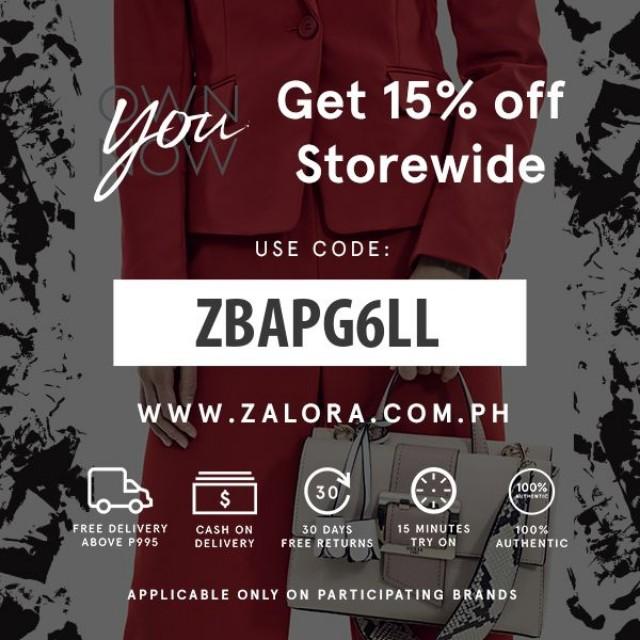 ZBAPG6LL | 15% OFF ZALORA