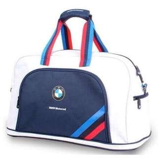 (未使用)白色BMW旅行包。可手提可肩背