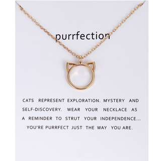 (PRE-ORDER) CAT EAT NECKLACE FOR CAT LOVERS