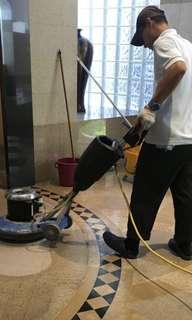 Marble, granite floor polishing service
