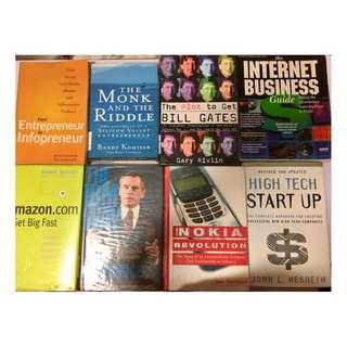 Tech entrepreneurship & Startup Books Buffet