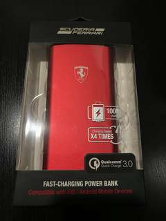 [BNIB] Scuderia Ferrari Fast Charging 10,000mAh powerbank (MSRP $69)