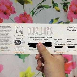 Dua Lipa Self-Entitled Tour in Kuala Lumpur @ KL Live