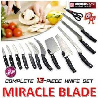 Miracle blade 13pcs knife set