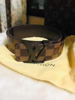 Authentic Louis Vuitton Damier Ebene LV Logo Belt