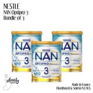 Nestle Nan Optipro Stage 3 Baby Milk Powder Formula (Bundle of 3)