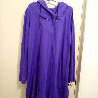 sweater dress w/ hood