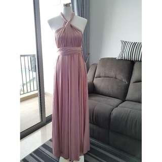 Rose Pink Infinity Maxi Dress