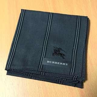 日本Burberry 手巾 Japan made handkerchief cotton dark grey