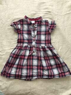Carter's Plaid Design Dress