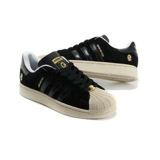 NAME YOUR PRICE | ✔ DETAILS!  Preloved Adidas Super Ape Star x Bape (Black)