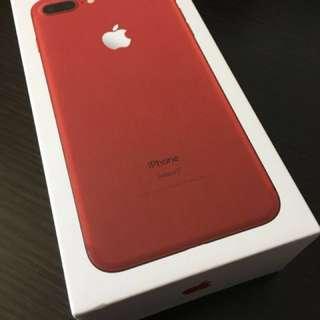 99% 新 iPhone 7 plus Product Red 紅色 128 GB