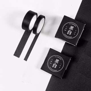 Solid Black Washi Tape