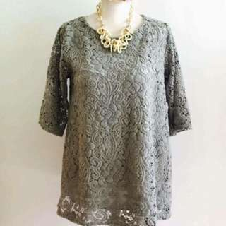Lacey long top