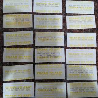 LOT OF 66 PCS TIBS (TRANS ISLAND BUS SERVICES) BUS TICKETS --PRICE INCLUSIVE OF REGISTERED MAIL