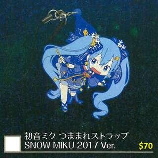 雪祭會場限定 雪初音 Snow Miku 2017 手機吊飾