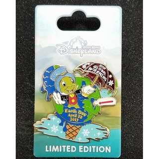 Jiminy Cricket 蟋蟀 占美尼  Disney 迪士尼 地球日 徽章 Pin LE 500
