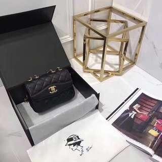 Chanel 香奈兒 型號 風琴包 山羊皮 size20cm