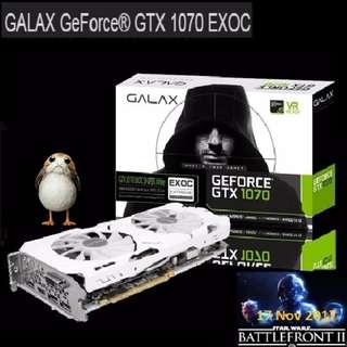 Galax GTX 1070 EXOC-SNPR WHITE 8GB GDDR5.