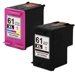 Ink hp 61 cartridges black and colour