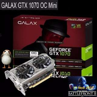 Galax GTX 1070 OC Mini 8GB GDDR5.