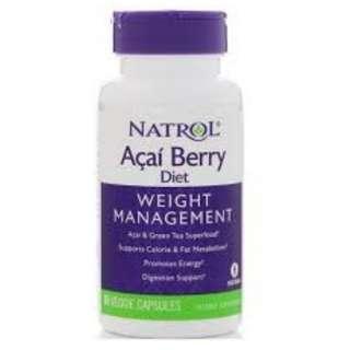 Natrol ACAI BERRY Diet, AcaiBerry Diet Acai Green Tea Super Foods 60 Fast Capsules.