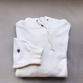 """CHAMPION PULLOVER HOODIE (in color """"broken white"""")"""