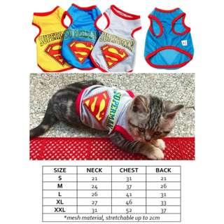 Dog Cat Rabbit Pet Clothes Superman