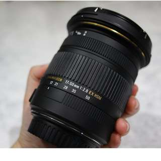 WTS: Sigma 17-50mm f2.8  EX DC OS HSM  (Canon mount)
