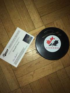 Team Canada Darnell Nurse Autographed Hockey Puck With COA