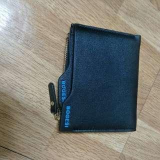 時尚 錢包 兩折式錢包 黑色 全新 Bogesi