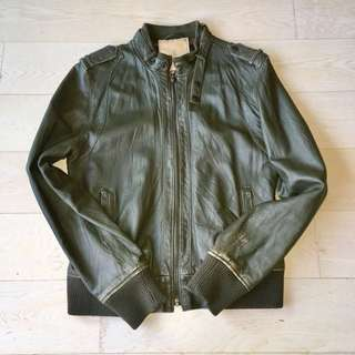 80/20 Bomber Leather Jacket 羊皮軍褸 皮褸