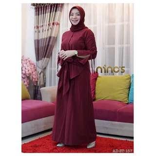 IKN - 0318 - Setelan Muslim Wanita Atasan Angelina set Plus Celana