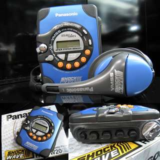 HARD TO FIND - VINTAGE PANASONIC WEATHER PROOF SHOCK WAVE WALKMAN WITH DIGITAL RADIO + VIRTUAL MOTION BASS SHAKING HEADPHONE (BRAND NEW OLD STOCK) PROBABLY NEED TO REPLACE CASSETTE BELTING BE4 CAN BE USE (OVER $200) WAREHOUSE CLEARANCE $50