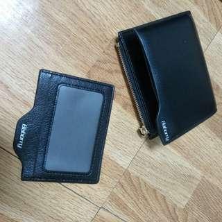 時尚 錢包 兩折式錢包 黑色 全新