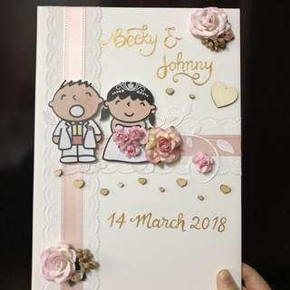 立體結婚證書套
