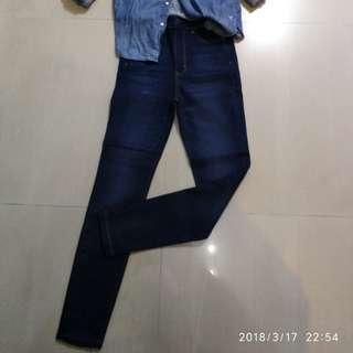 美國 American Eagle高腰彈性牛仔褲