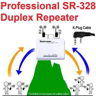 Professional multi-mode, multi-functional SR-328 Duplex Repeater Controller with external power supply and built in battery + (K type plug) (For Baofeng or Kenwood, WLN, QUANSHENG, PUXING, TYT, WOUXUN, Linton, WEIERWEI Walkie Talkie, Radio)