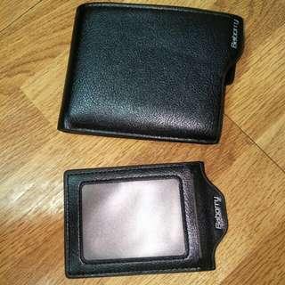 時尚 錢包 兩折式錢包 黑色 全新 防磁 防輻射 防盜刷