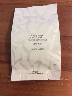 BN Age 20's essence cover pact refill 21 white latte