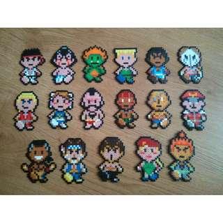 Small Street Fighter Hama Designs