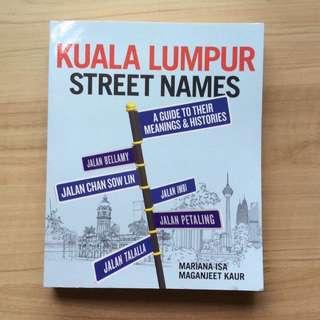 BN Kuala Lumpur street names book Mariana Isa Maganjeet Kaur