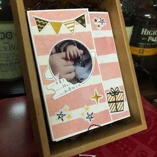 手工相簿(訂造)新生嬰兒禮物 母親節 父親節 生日禮物