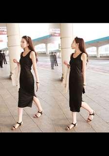 BNWoT Black Bodycon Midi Dress