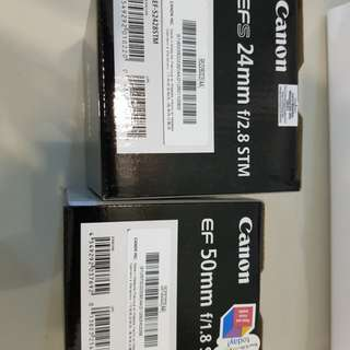 Canon EF-s 24mm F2.8 STM & Canon EF 50mm F1.8 STM