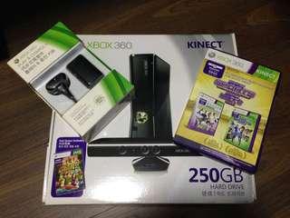 Xbox 360 S 250GB with Kinect sensor