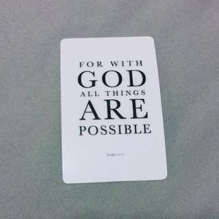 BN Christian Ezlink card sticker