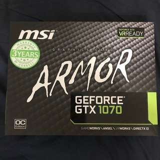 MSI Armor GTX1070 8GB OC